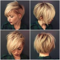 Idée Tendance Coupe & Coiffure Femme 2018 : 30 Stylish Short Hairstyles for Girls and Women: Curly Wavy Straight Hair PoPular Haircuts Pretty Hairstyles, Straight Hairstyles, Stylish Hairstyles, Hairstyle Ideas, Hair Ideas, Hairstyles 2016, Short Asymmetrical Hairstyles, Asymmetrical Bob Short, Pinterest Hairstyles