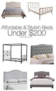 DIY Home Decor Inspiration : Look no further for a gorgeous and inexpensive bed because I've already done. Affordable Bedding, Affordable Home Decor, Home Decor Furniture, Diy Home Decor, Kids Furniture, Creative Kids Rooms, Stylish Beds, Elegant Homes, Home Decor Inspiration
