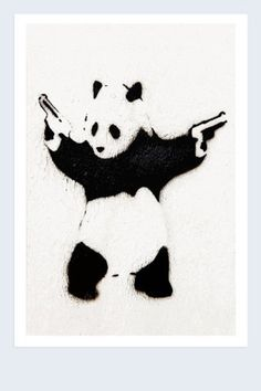 Just take a few minutes now to get a canvas print of a panda with two pistols. I can't think of a better way you could spend the next portion of your day.