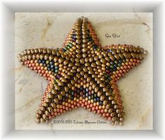 KIT Sea Star - all about the shape - PATTERN + MATERIAL  Level Intermediate Techniques: circular peyote stitch with two sizes of seed beads -
