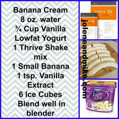 One of many delicious shakes you can put together using your Thrive Lifestyle Mix! Thrive Shake Recipes, Vanilla Shake Recipes, Thrive Diet, Thrive Le Vel, Thrive Experience, Low Fat Yogurt, Smoothie Recipes, Smoothies, Healthy Drinks