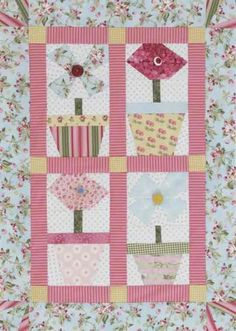 Spring Flowers Wall Hanging