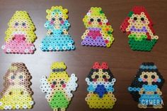 Disney Princess perler beads by 07saaya10