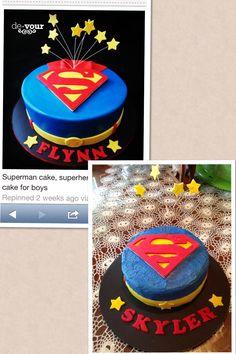 """Superman cake I found on Pinterest """"nailed it!"""""""
