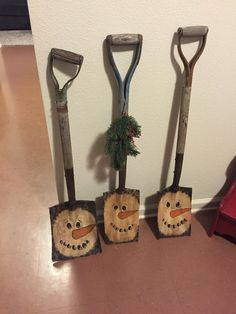 Primitive Snowmen shovels