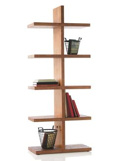 Vintage Fir Convertible Column Shelving - VivaTerra. Like the idea and design; would prefer a different wood.