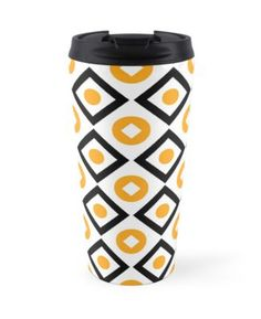 Buy Sunyellow pattern of rhombuses and circles Travel Mugs by Steffen Remter on Redbubble!.   ★ Check out and love:   https://remter.de http://redbubble.com/people/balticlapse   ★ Worldwide shipping available at redbubble.com.   ★ #balticlapse #remter #design #art #Remter #framed #print #tshirt #iphone #ipad #case #mug #skirt #scarf #pillow #printed #tote #bag #society6 #redbubble #artprint #redbubble #homedecor #homedesign #pillows #pattern #tops #fashion #womensfashion #mugs