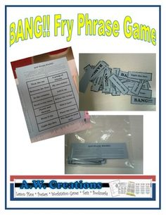 Phrase cards This is a game students can play alone or with a partner/group to practice sight words by reading Fry phrases. This folder includes all six levels. Reading Tutoring, Reading Fluency, Guided Reading, Fluency Activities, Reading Activities, Emotional Support Classroom, Fluency Practice, Phonics Words, 3rd Grade Reading