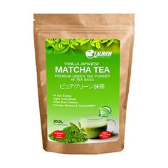 Vanilla Flavored Matcha Powder TEA BAGS: Imported Japanese Organic Matcha Powder in Tea Bags by Lauren Naturals: Great for - Risk Free Full Money Back Guarantee -- See this great product.
