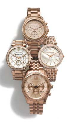 On wishlist: Michael Kors watches.