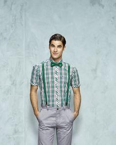 Darren Everett Criss in suspenders
