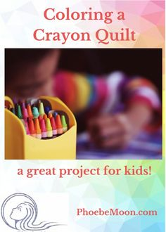 Children of all ages can create a quilt with fabric crayons. They make a soft design, perfect for a baby quilt that older siblings can help create. Quilting For Beginners, Quilting Tips, Quilting Projects, Lessons For Kids, Projects For Kids, Crafts For Kids, Art Lessons, Scrappy Quilt Patterns, Quilt Blocks