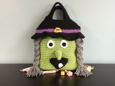 Witch Trick or Treat Candy Bag for Halloween
