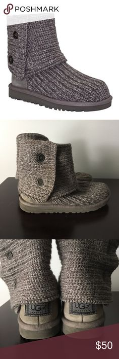 Ugg Gray Classic Cardy Boot Ugg Gray Classic Cardy Boot. Gently worn kids size 3 fits like a women's size 6 🍂 UGG Shoes Winter & Rain Boots