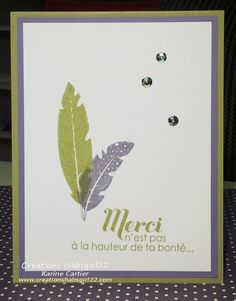 Four Feathers, lots of thanks By Karine Cartier Www.creationshabsgirl22.com