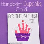 Handprint Cupcake Card