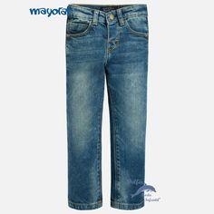 Pantalón largo de niño MAYORAL vaquero lavado claro