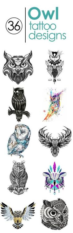 Tatto Ideas 2017 - 36 Best owl tattoo designs in full size. www.gettattoed.co......