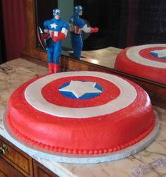 Captain America Party Cake