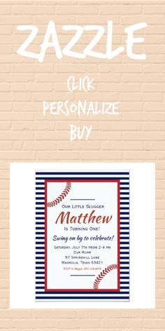 Shop Little Slugger Baseball Birthday Invitation created by MaggieAdams. Personalize it with photos & text or purchase as is! Baseball Birthday Invitations, Baseball Birthday Party, Sports Birthday, Fourth Birthday, Boy Birthday, Colored Envelopes, White Envelopes, Zazzle Invitations, Envelope Liners