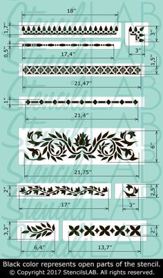 Indienne marqueterie pochoir Kit Kit pochoir meubles