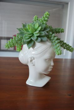 Modern Ceramic Head Planter $45.99