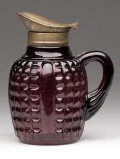 Paneled Amethyst Syrup Pitcher 19th century