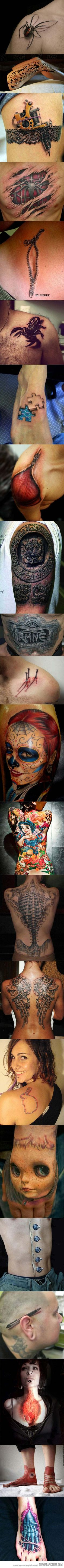 Amazing 3D tattoos that will boggle your mind…