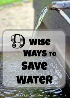 few lines on save water Save money and carbon with these top 10 top water saving tips from the eden  project.