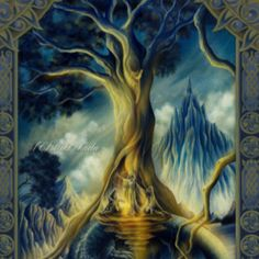 Norse mythology teaches that wisdom gives a person power. The Well of Mimir is the the well of wisdom, Odin often consulted it and gave his eye to it in exchange. Odin sacrificed a lot to gain wisdom, he hung himself on Yggdrasil to gain the power of reading runes. This made him wise and made his reach and power more immense.