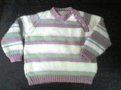 Free Knitting Pattern - Toddler & Children's Clothes: Toddler Striped Pullover