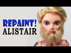 Repaint! Alistair Wonderland Custom Male Doll with Beard OOAK - YouTube