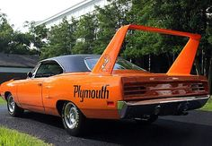 If you like your over-engined coupes road legal, but still packing a visual punch then a 1970 Plymouth Superbird (above) could be for you. It sports a ridiculous spoiler that even Lamborghini can't get away, but on this small-wheeled, long-nosed muscle car it somehow seems right, especially in this car's shade of Deep Burnt Orange metallic (from Classic and Sportscars).