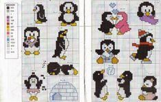 **Blog Amor Perfeito** Gráficos de ponto cruz: Pinguins