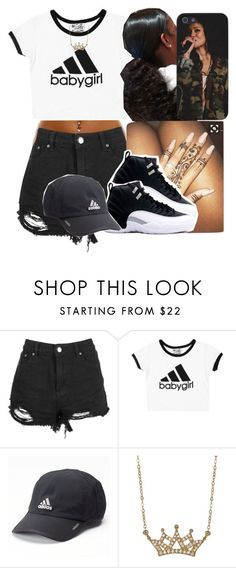 """Untitled #404"" by darkskinn-awa ❤ liked on Polyvore featuring Boohoo, adidas and Lord & Taylor"