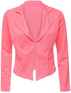 Love Neon Pink Blazer   Women's Clothing   www.loveonlinefashion.com