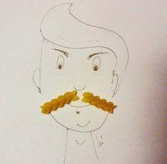 mustache pasta