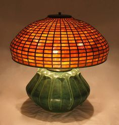 Geometric Shade with Artichoke Pottery Base by Century Studios Craftsman Style Bungalow, Craftsman Decor, Craftsman Furniture, Decoration, Art Decor, I Like Lamp, Studio Lamp, Mission Furniture, Stained Glass Lamps