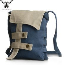 Meiyi B75 High Women Girls Canvas Bags Buttons Patchwork Modern Rider Crossbody Bags Designer Handbags High Quality Shoulder Bag(China (Mainland))