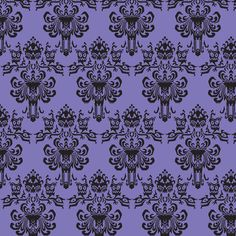 Haunted Mansion Remix-Purple gift wrap $15 rolll by luthied on Spoonflower - also custom fabric