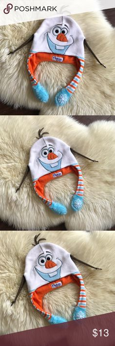 Flipeez Frozen Olaf Snowman Character Beanie Hat Flipeez Frozen Olaf Snowman Beanie Hat  Very Good Condition. Fully Functional! Flipeez Accessories Hats