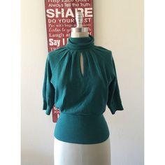 Catherine Malandrino Turtleneck Cashmere top This is a beautiful sweater top, worn a few times but has no signs of wear, stains, or tears. Made of 70% wool, 20% silk, and 10% cashmere. SOLD AS IS  Catherine Malandrino Tops Blouses