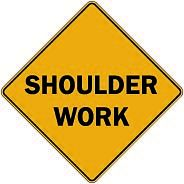 71 Shoulder work $1.64 #signs #traffic #road #USA