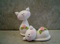 cups with fimo figurines - Yahoo Search Results Image Search Results Polymer Clay Cat, Polymer Clay Figures, Polymer Clay Animals, Fondant Figures, Polymer Clay Projects, Polymer Clay Creations, Clay Cats, Cute Clay, Clay Figurine