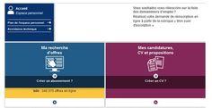 Page d'accueil de l'espace personnel pole-emploi.fr