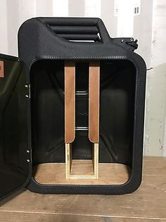 Upcycled Jerry Can Mini Bar, Picnic, Camping, Recycled, New Can, Matt Black
