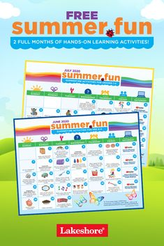 🎉 Get ready for a summer full of activities kids will love—with our free calendars! Find something new and fun to explore each day this summer.  #summeractivities #kidactivities Summer Activities For Kids, Learning Activities, Free Summer, Summer Fun, Free Calendars, Lakeshore Learning, Hands On Learning, Calendar 2020, Summer Ideas