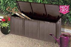 XL Weatherproof Garden Storage Box - 2 Colours!