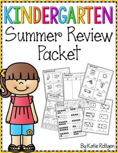 Kindergarten Summer Review Packet: Updated in January 2016!Help beat the summer slide!  Here's the perfect kindergarten summer review packet!  This includes 105 pages that you just have to print and staple together! This packet includes all of the important Kindergarten skills, so you can rest assured that your students will be practicing skills they learned in the classroom!