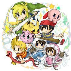 Super smash browl cuties; cute but feisty
